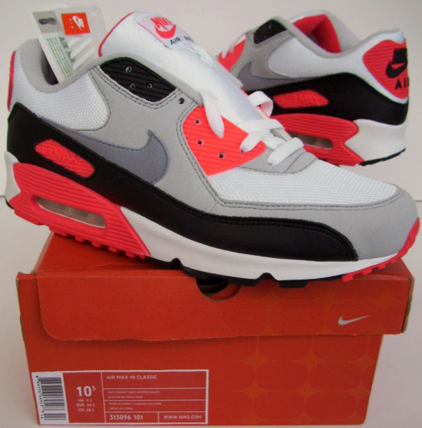 Air Max 90 Classic (WhiteCement Grey Infrared Black) 313096