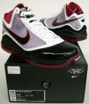 Air Max Lebron VII wht red Blak sz 11