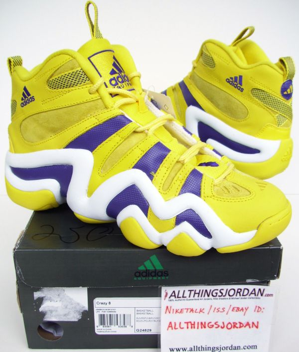 cfd96a5f3c7f71 Adidas Crazy 8 Kobe (Yellow Purple-White) G24829 Size US 10