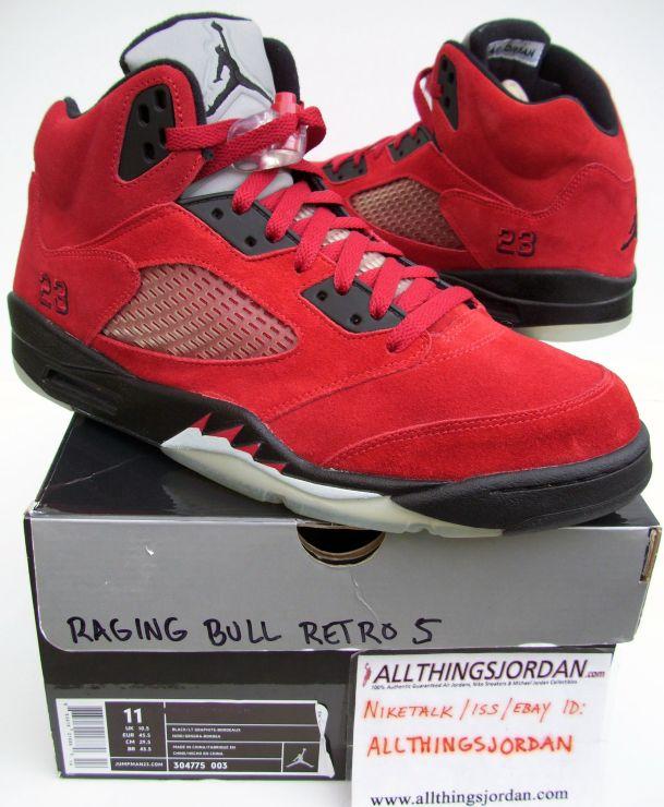 1f9dfef410b478 Air Jordan 5 Retro DMP Raging Bulls (Red Black-White-3M) 136027 601 ...